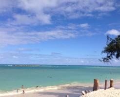 ハワイの空と海