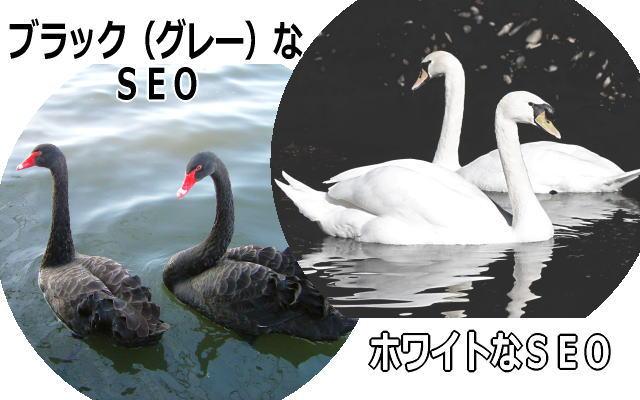 ブラックなSEOとホワイトなSEOイメージ画像