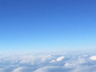 青空(飛行機から撮影)