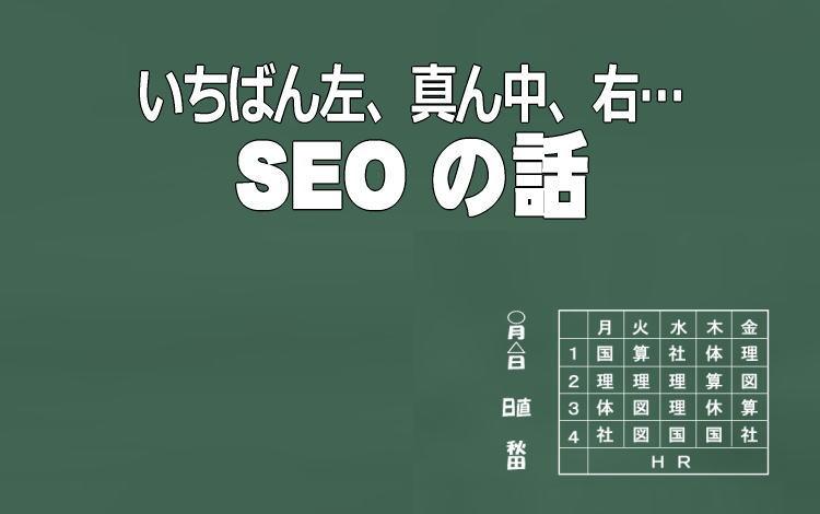 SEOキーワードの並び順番イメージ画像