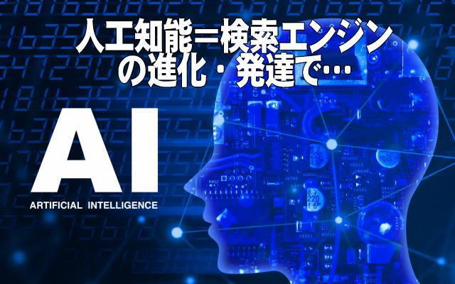 人工知能・検索エンジンの進化発展イメージ画像