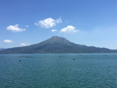 桜島と海のイメージ画像