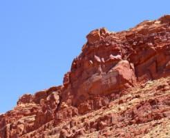 青い空と岩山