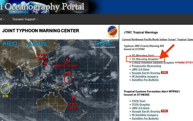 台風情報米軍のイメージ画像