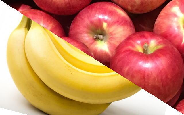 alt属性イメージ画像(リンゴとバナナ)