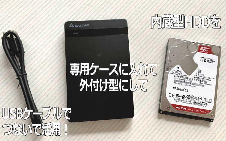 内臓型HDDと外付けHDDの比較とお薦めイメージ画像